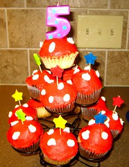 Adorable Mushroom cupcake tower
