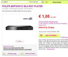 pixmania blu ray player €1.05