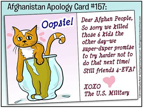 Afghan civilian deaths, cartoon
