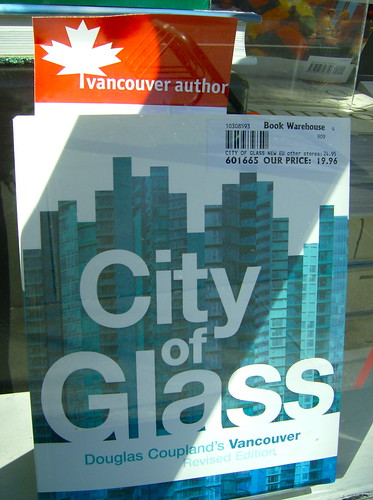 CITY OF GLASS by DOUGLAS COUPLAND @ BOOK WAREHOUSE
