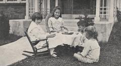 Four Children Having a Tea Party, 1918
