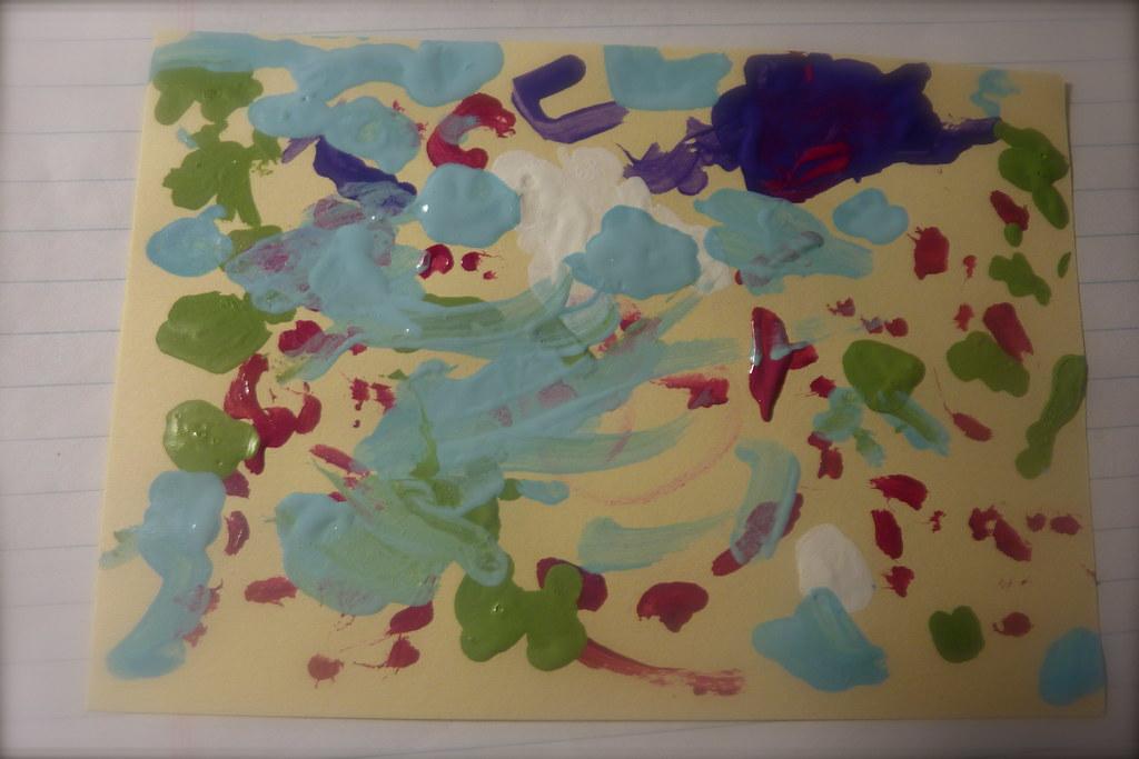 Elle's 1st Acrylic Painting