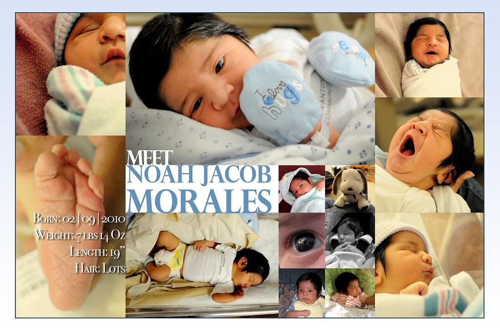 Noah's Birth Anouncement