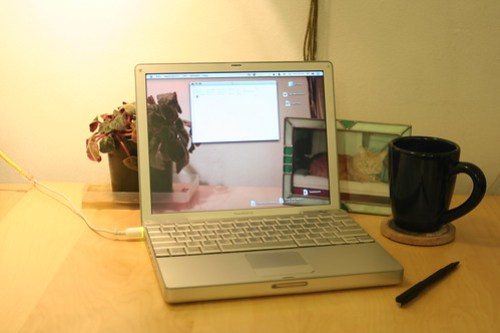 Transparent LCD laptop notebook screen