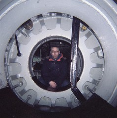 Ant inside a submarine