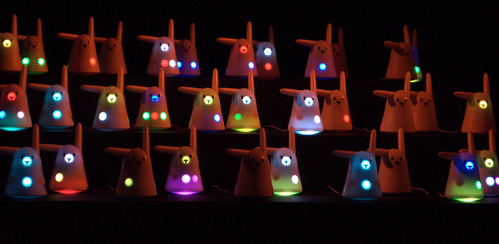 Apparently these bunnies can read your emails to you out loud...