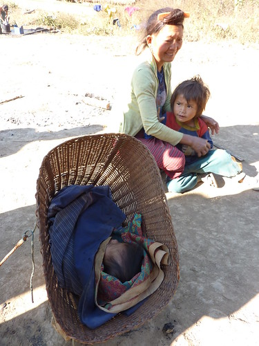 Baby in Basket Lhmu Village