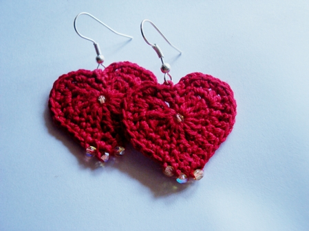 Crochet - Hearty Earrings -FO3