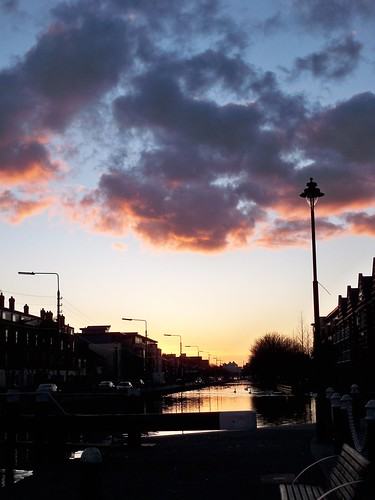 Grand Canal at Portobello near sunset