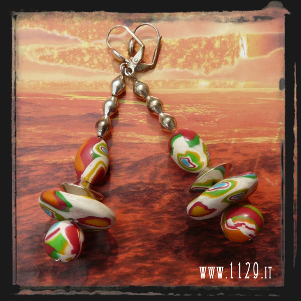 LEROND orecchini multicolore multicolour earrings 1129