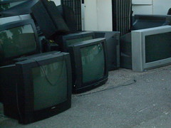 tv screen cemetery