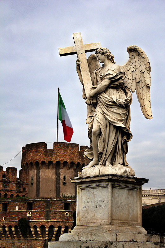 An angel guarding the Castel St Angelo