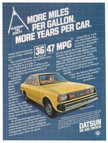 1981 Datsun 210 Ad