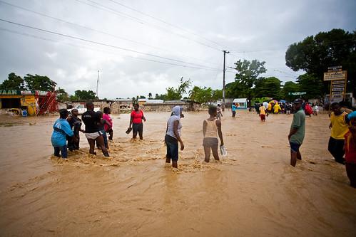Haitians-Standing-in-Flood-Water