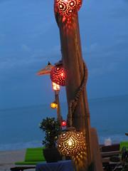 Detail of open-air restaurant