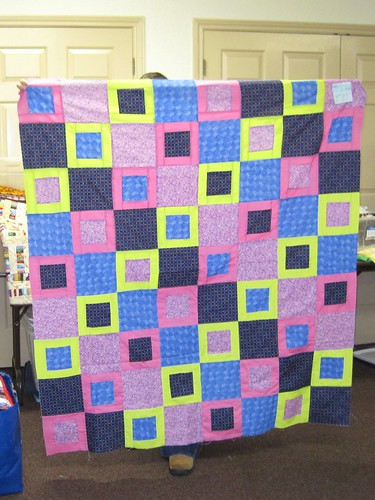 Colorful Quilt top made and donated by Laci
