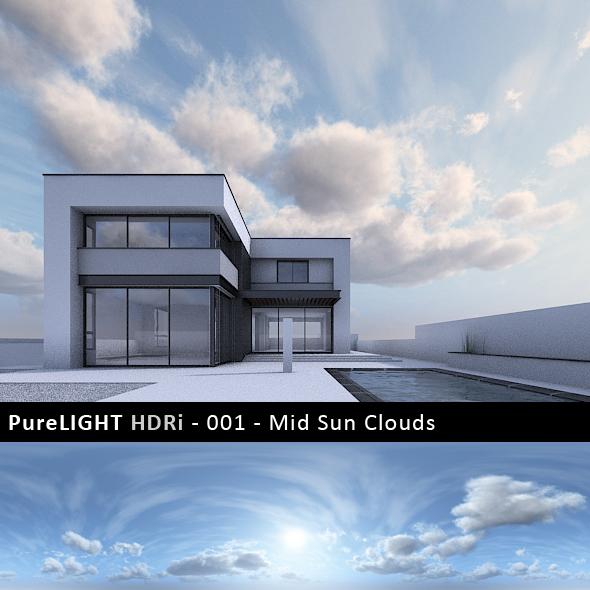 PureLIGHT HDRi 001 - Mid Sun Clouds
