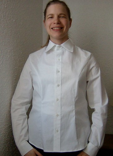 white collared shirt front