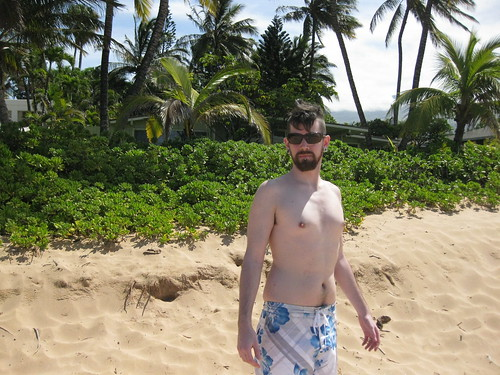 The Whitest Man on Keawakapu Beach