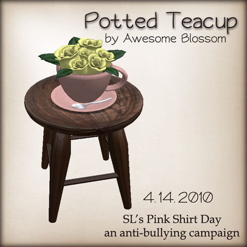 :: Awesome Blossom :: Potted Teacup
