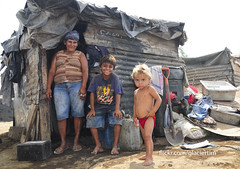 These children live in a garbage dump