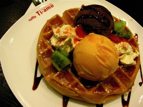 Waffle at Caffe Ti Amo