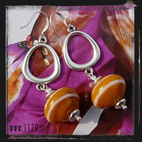 IDARAN orecchini arancio - orange earrings 1129