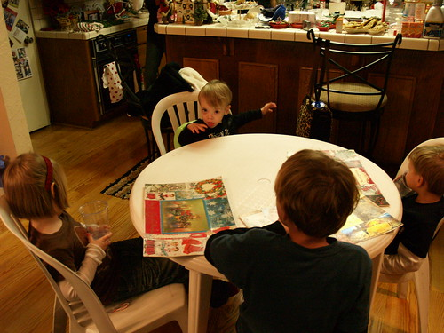 Atti at the kids table