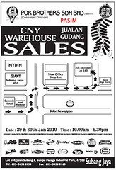 Pok Brothers CNY Warehouse Sales