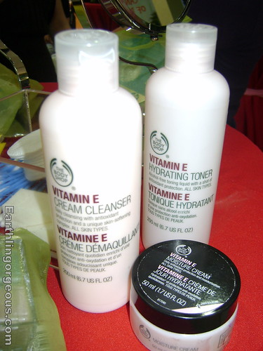 Body Shop Cleanser, Toner, Moisturizer for Normal to Dry skin