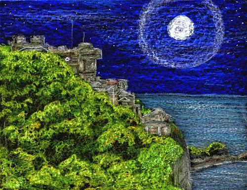 Moon over Culzean