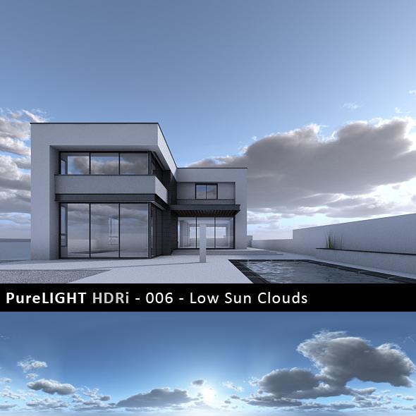 PureLIGHT HDRi 006 - Low Sun Clouds