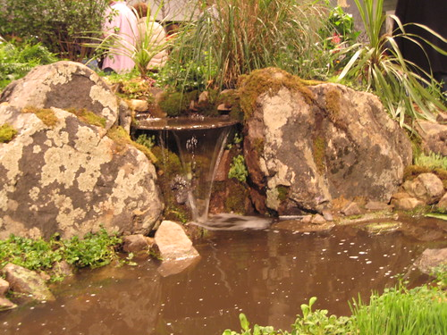 Chicago Flower Show: mossy waterfall
