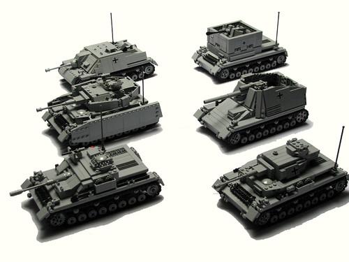PzKpfw IV y variantes de Panzerbricks.