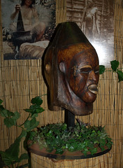 African human skin mask opposite