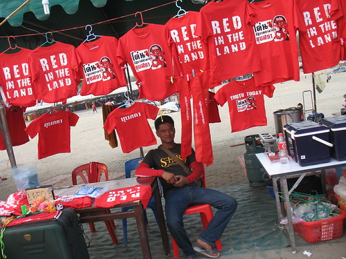 Red in the land t-shirts