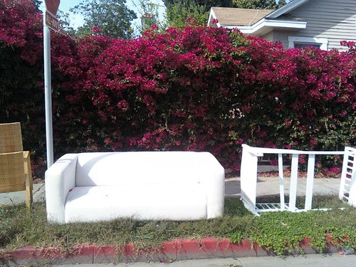 White Couch and remains of something