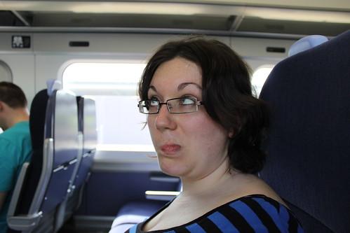 Fast trains break Ruth's eye's!