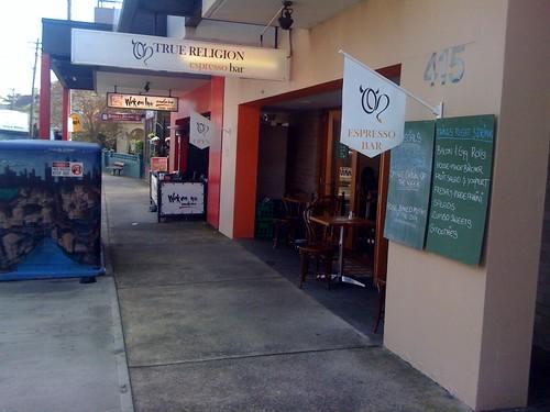 True Religion espresso bar, Balmain