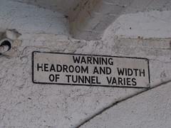 Width warning