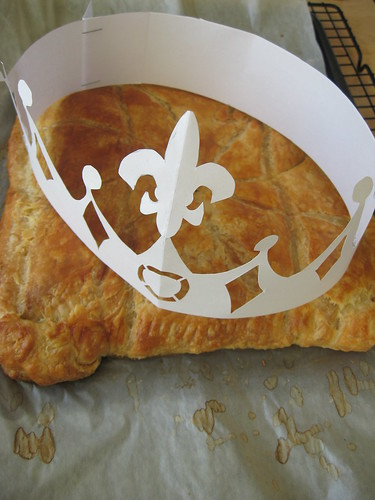 galette des rois 2010 - with crown