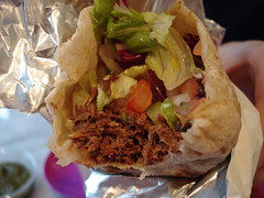 Inside the Goan Pork Wrap