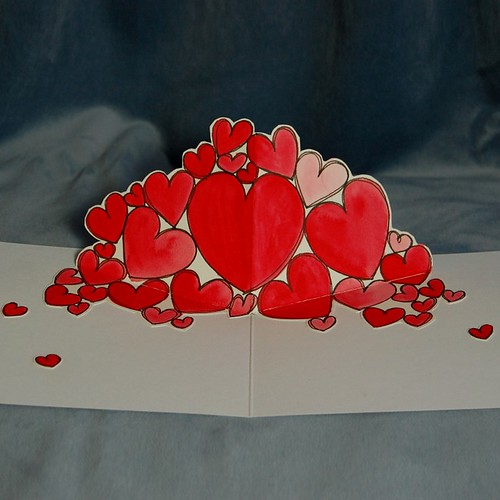 Cascading Hearts - Inside Detail