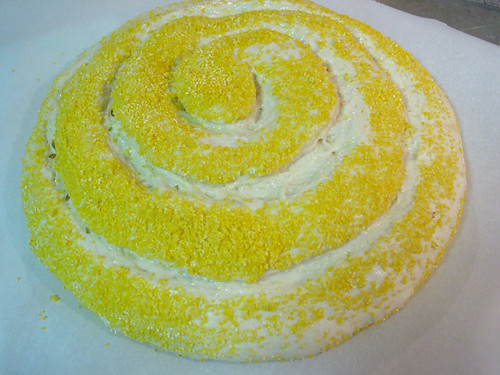polenta dough spiral