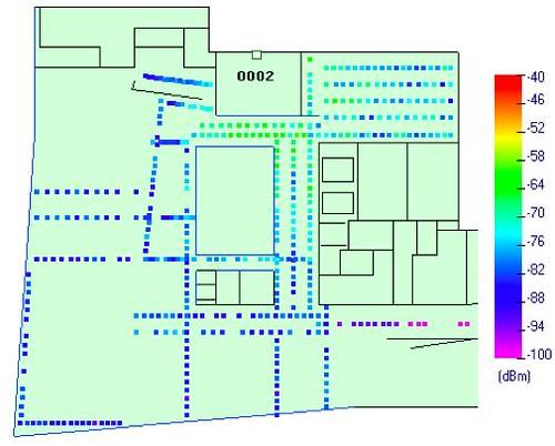 WSN node map