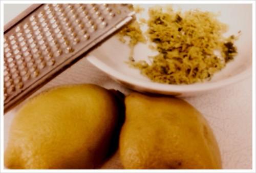 freshly grated lemon & lime zest