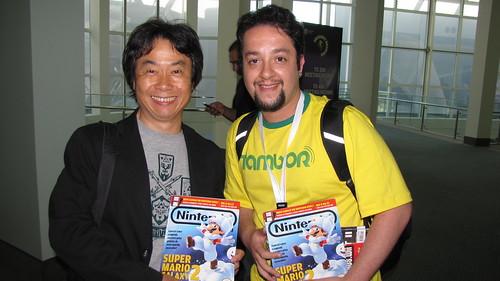 Com o criador de Mario, Sr. Shigeru Miyamoto
