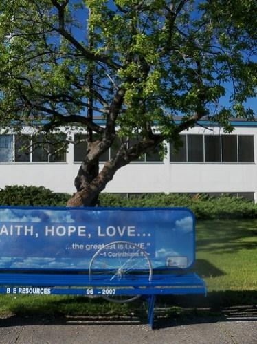 Faith. Hope. Love. Wheel.
