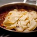 Rabbit ragu with parpadelle