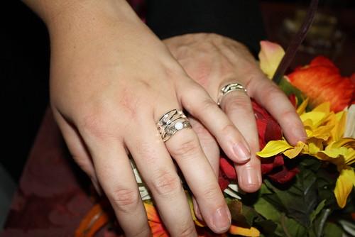 Our rings, handmade.
